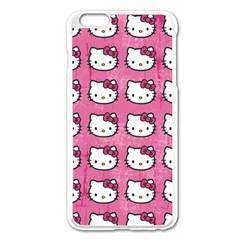 Hello Kitty Patterns Apple iPhone 6 Plus/6S Plus Enamel White Case