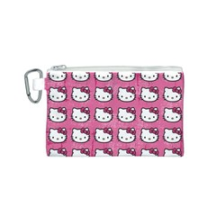 Hello Kitty Patterns Canvas Cosmetic Bag (S)