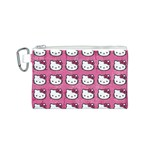 Hello Kitty Patterns Canvas Cosmetic Bag (S) Front