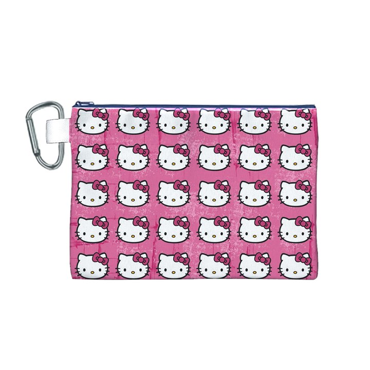 Hello Kitty Patterns Canvas Cosmetic Bag (M)
