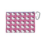 Hello Kitty Patterns Canvas Cosmetic Bag (M) Back