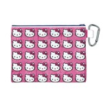 Hello Kitty Patterns Canvas Cosmetic Bag (L) Back