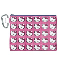 Hello Kitty Patterns Canvas Cosmetic Bag (XL)