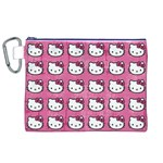 Hello Kitty Patterns Canvas Cosmetic Bag (XL) Front