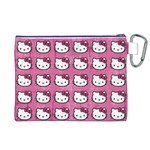 Hello Kitty Patterns Canvas Cosmetic Bag (XL) Back