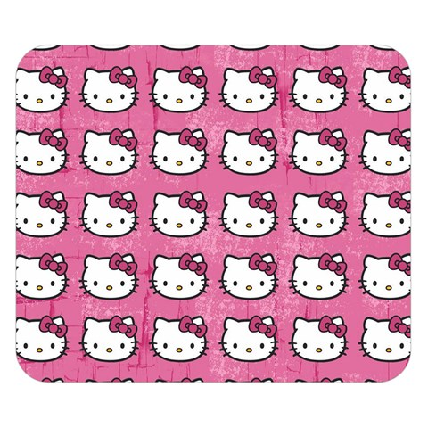 Hello Kitty Patterns Double Sided Flano Blanket (Small)