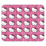 Hello Kitty Patterns Double Sided Flano Blanket (Small)  50 x40 Blanket Back