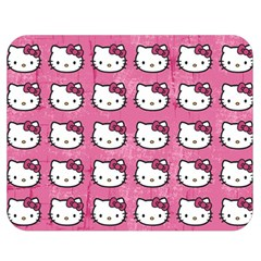 Hello Kitty Patterns Double Sided Flano Blanket (Medium)