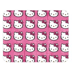 Hello Kitty Patterns Double Sided Flano Blanket (Large)
