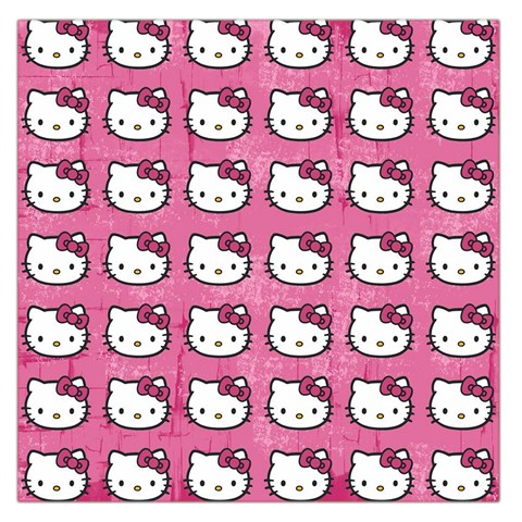 Hello Kitty Patterns Large Satin Scarf (Square)