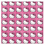 Hello Kitty Patterns Large Satin Scarf (Square) Front