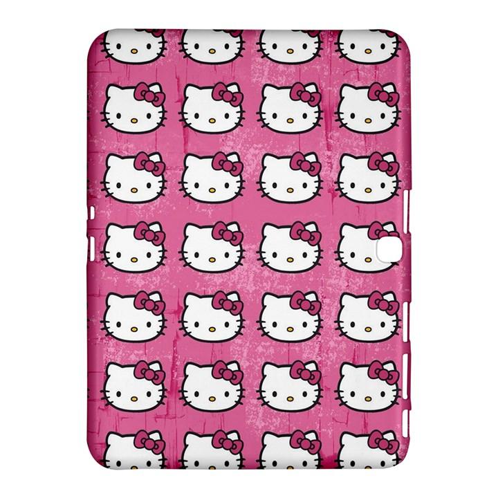 Hello Kitty Patterns Samsung Galaxy Tab 4 (10.1 ) Hardshell Case