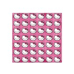 Hello Kitty Patterns Satin Bandana Scarf Front