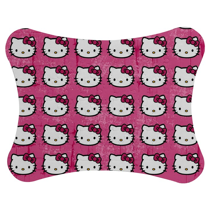 Hello Kitty Patterns Jigsaw Puzzle Photo Stand (Bow)