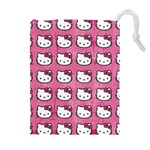 Hello Kitty Patterns Drawstring Pouches (Extra Large) Front