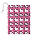 Hello Kitty Patterns Drawstring Pouches (Extra Large) Back