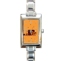 Nyan Cat Vintage Rectangle Italian Charm Watch