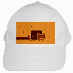 Nyan Cat Vintage White Cap