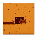 Nyan Cat Vintage Tile Coasters Front