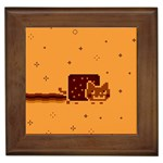 Nyan Cat Vintage Framed Tiles Front