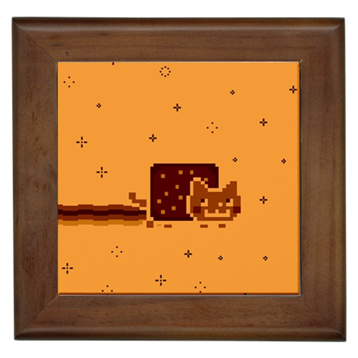 Nyan Cat Vintage Framed Tiles