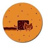 Nyan Cat Vintage Round Mousepads Front
