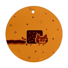 Nyan Cat Vintage Ornament (Round)