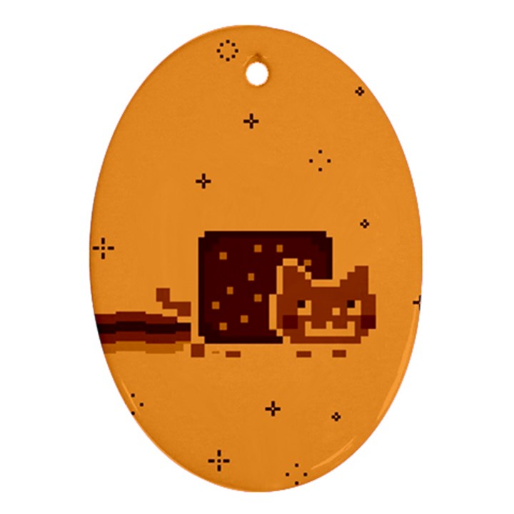 Nyan Cat Vintage Ornament (Oval)