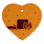 Nyan Cat Vintage Ornament (Heart)  Front