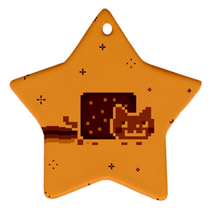 Nyan Cat Vintage Ornament (Star)