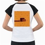Nyan Cat Vintage Women s Cap Sleeve T Back