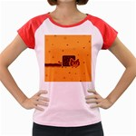 Nyan Cat Vintage Women s Cap Sleeve T-Shirt Front
