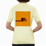 Nyan Cat Vintage Women s Yellow T-Shirt Back