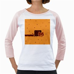 Nyan Cat Vintage Girly Raglans