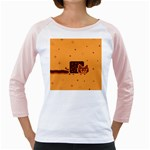 Nyan Cat Vintage Girly Raglans Front