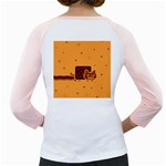 Nyan Cat Vintage Girly Raglans Back