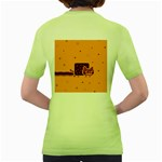 Nyan Cat Vintage Women s Green T-Shirt Back