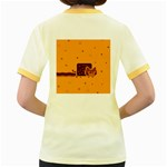 Nyan Cat Vintage Women s Fitted Ringer T-Shirts Back