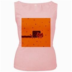 Nyan Cat Vintage Women s Pink Tank Top