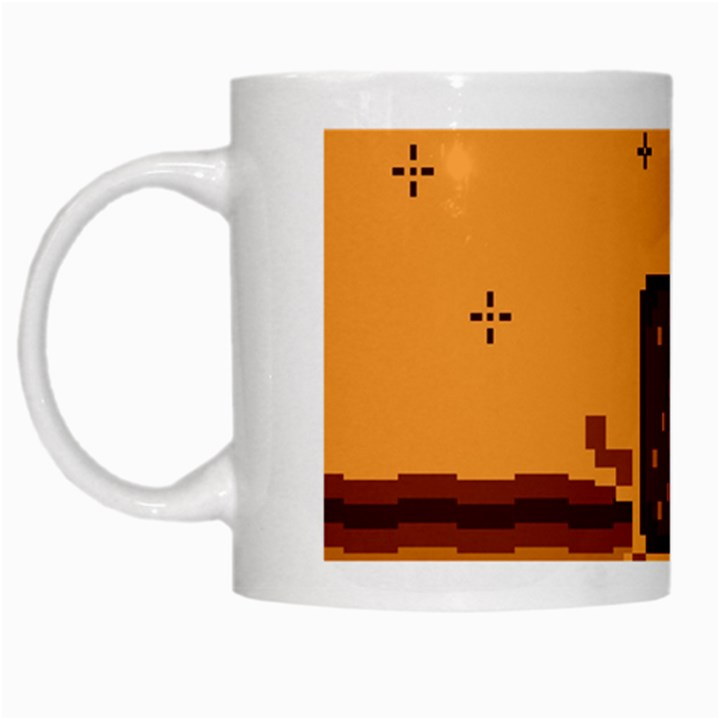 Nyan Cat Vintage White Mugs