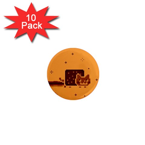 Nyan Cat Vintage 1  Mini Magnet (10 pack)