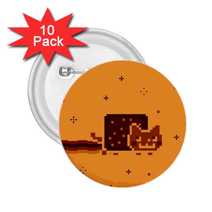 Nyan Cat Vintage 2.25  Buttons (10 pack)
