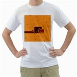 Nyan Cat Vintage Men s T-Shirt (White) (Two Sided) Front