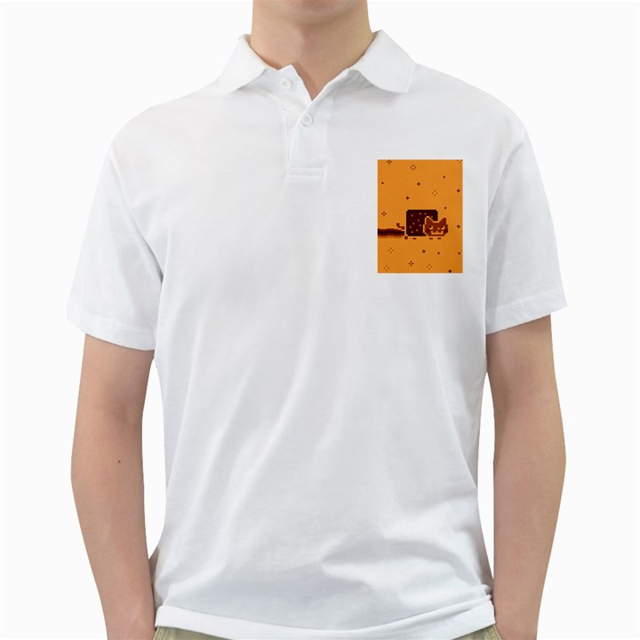 Nyan Cat Vintage Golf Shirts