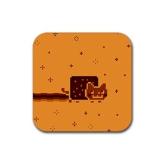 Nyan Cat Vintage Rubber Square Coaster (4 pack)