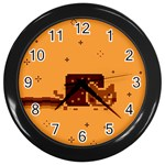 Nyan Cat Vintage Wall Clocks (Black) Front