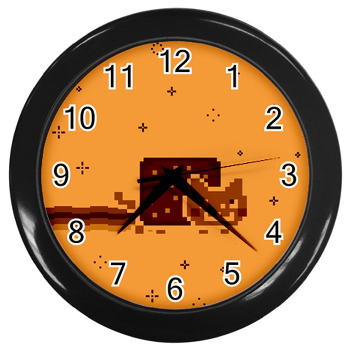 Nyan Cat Vintage Wall Clocks (Black)