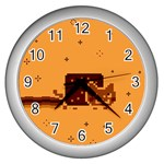 Nyan Cat Vintage Wall Clocks (Silver)  Front