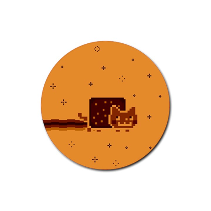 Nyan Cat Vintage Rubber Coaster (Round)