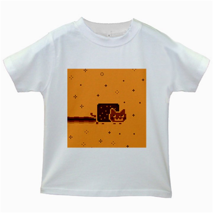 Nyan Cat Vintage Kids White T-Shirts
